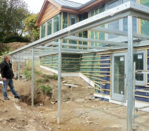 Cornwall balcony steel frame concrete deck
