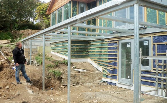 Cornwall balcony steel frame concrete deck