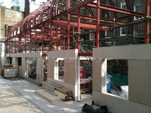 Glynd Mews, Knightsbridge under construction. Lewis Deck sound proof floors with underfloor heating.