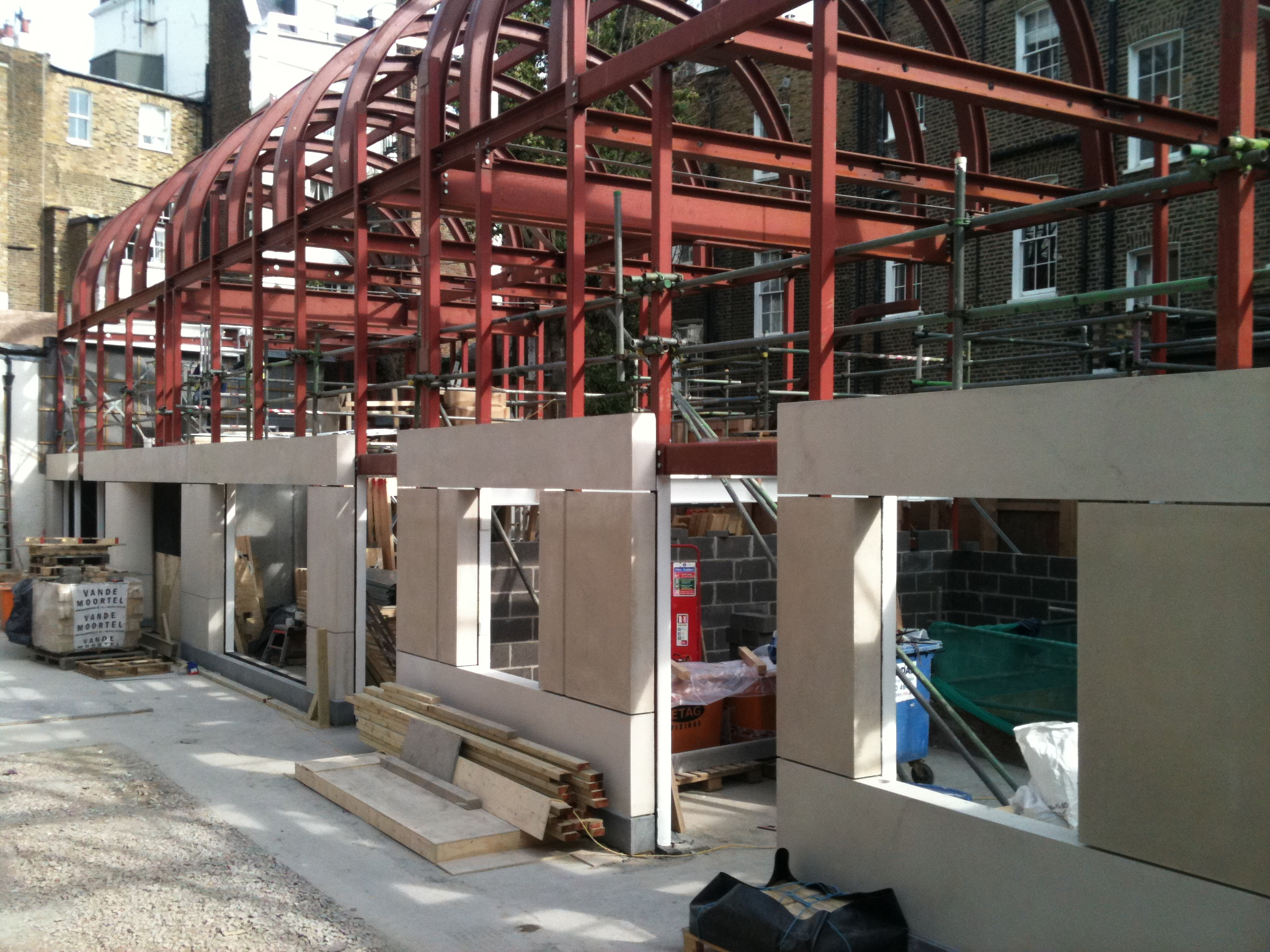 Glynd Mews, Knightsbridge under construction. Lewis Deck sound proof floors with underfloor heating.