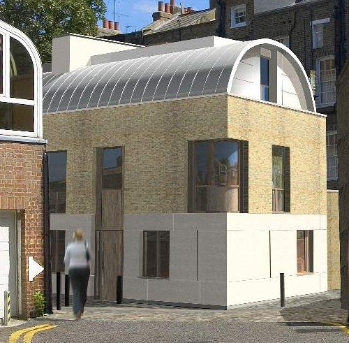 Steel Frame house in Knightsbridge with Lewis Deck and underfloor heating on posijoists