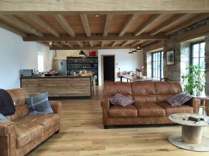 Exposed timber ceilings at Insworke Mill Quay