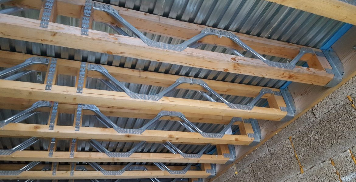 Lewis Deck With Metal Web Timber Joists