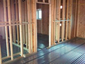 Lewis Deck Acoustic Floor in a Timber Frame Building