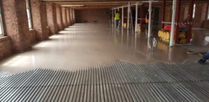 Gyvlon Screed to 1st Pour.