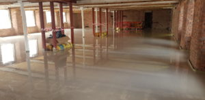 Completed 1st Screed Pour.