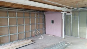 Internal Stud Partitions Being Installed